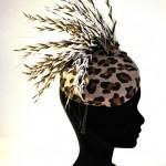 bibi léopard plumes